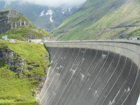 Reservoirs in Kaprun. Glacier Kitzsteinhorn.